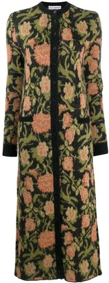 Paco Rabanne Floral Print Knitted Dress