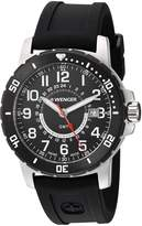 Wenger Men's 'Off Road GMT' Swiss Quartz Stainless Steel and Silicone Casual Watch, Color:Black (Model: 01.1342.102)