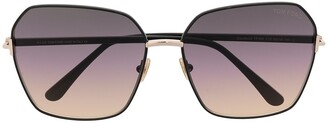 Tom Ford Square-Frame Gradient-Lens Sunglasses