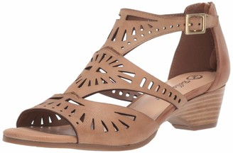 Bella Vita Women's Penny Cutout Sandal with Back Zipper Shoe
