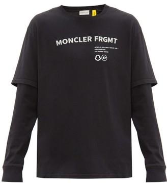 7 Moncler Fragment - Layered Logo-print Cotton-jersey T-shirt - Black