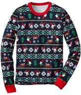 Adult Unisex Long John Pajama Top In Organic Cotton