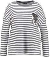 Jette Joop POCKET Sweatshirt silver melange/offwhite