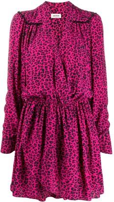 Zadig & Voltaire Reveal leopard print shirt dress