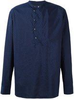 Giorgio Armani band collar printed shirt