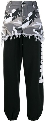 Vetements camouflage panel sweat pants black