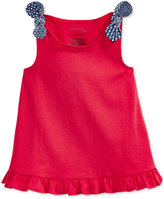 First Impressions Knot-Strap Cotton Tunic, Baby Girls (0-24 months), Only at Macy's