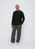 Our Legacy Grey Fine Tartan Draped Trousers