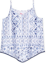 Epic Threads Geo-Print Pompom Tank Top, Big Girls (7-16), Only at Macy's