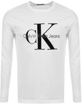 Calvin Klein Long Sleeve Tributo T Shirt White