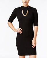 Say What ? Juniors' Rib-Knit Sweater Mock-Neck Bodycon Dress
