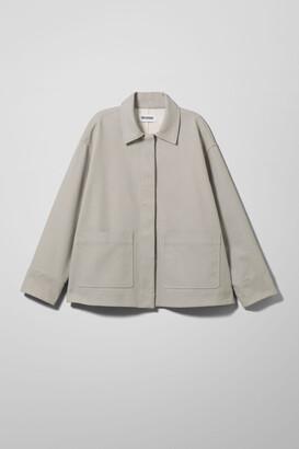 Weekday Ina Linen Mix Jacket - Grey