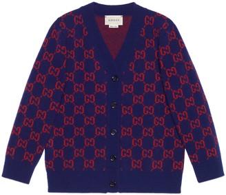 Gucci Children's GG wool cardigan