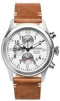 Jack Mason Aviation Chronograph Leather Strap Watch, 42mm
