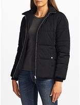 John Lewis Short Padded Puffer Jacket, Black