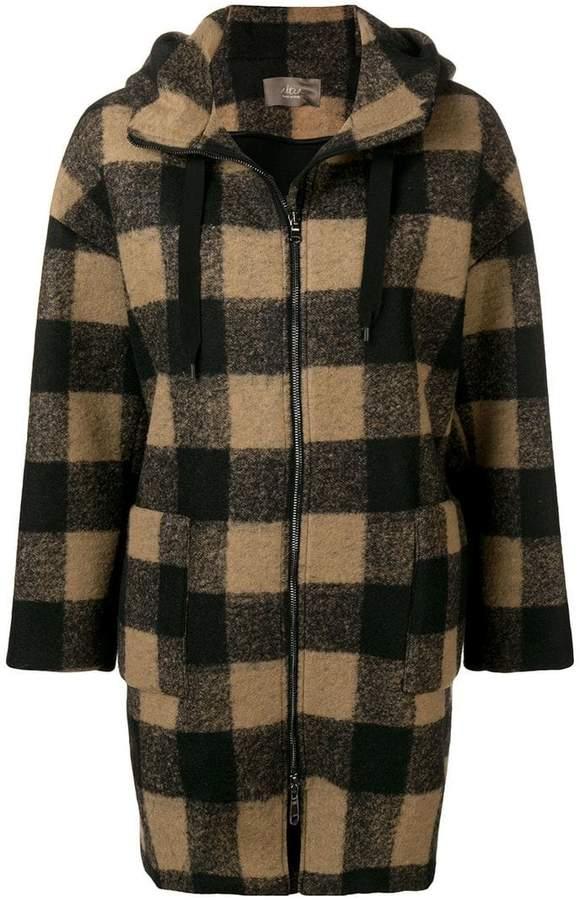 Altea zip-up plaid hooded jacket