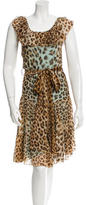 Blumarine Silk Leopard Print Dress