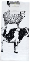 Threshold White Farm Animal Flour Sack Kitchen Towel Kitchen Towel