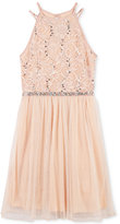 Speechless Sequin Lace A-Line Dress, Big Girls (7-16)