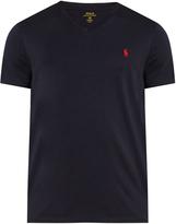 Polo Ralph Lauren Logo-embroidered V-neck cotton T-shirt