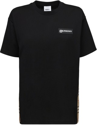 Burberry Jersey T-shirt W/ Checked Side Bands