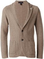 Lardini patch pockets knitted blazer