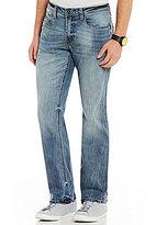 Buffalo David Bitton Driven-X Whiskered Straight-Leg Jeans