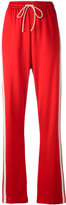 MM6 MAISON MARGIELA side stripe track pants - women - Cotton/Polyamide/Viscose - 42