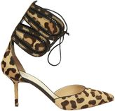 Francesco Russo Leopard Printed Pumps