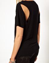 LnA Dixon Cut Out Cashmere T-Shirt
