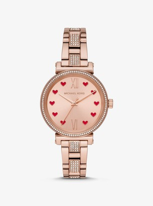 Michael Kors Sofie Pave Rose Gold-Tone Watch