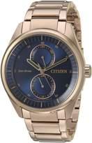 Citizen Men's 'Dress' Quartz Stainless Steel Casual Watch, Color:d (Model: BU3013-53L)
