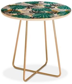 Deny Designs Marta Barragan Camarasa Abstract of Monstera Patterns Ii Round Side Table