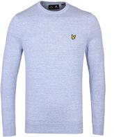 Lyle & Scott Blue Marl Crew Neck Sweater