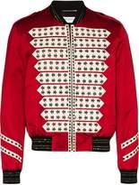 Saint Laurent red officer bomber jacket