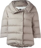 Eleventy three-quarter sleeve puffer jacket
