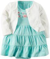 Carter's Baby Girl Tiered Bodysuit Dress & Cardigan Set