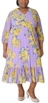 Thumbnail for your product : Robbie Bee Plus Size Floral Maxi Dress