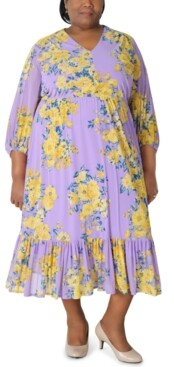 Robbie Bee Plus Size Floral Maxi Dress