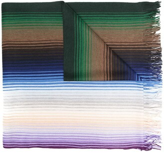 M Missoni Striped Knitted Scarf