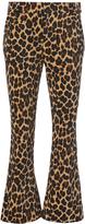 Frame Cheetah Flare Pants