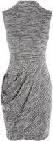 Karen Millen Draped Melange Dress - Grey/multi