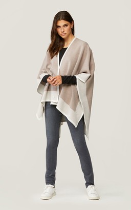 Soia & Kyo DONA knit wrap with colour contrast