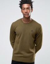 Paul Smith PS by Sweater With Crew Neck PS Logo In Khaki