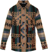 Valentino Geometric-print felt coat