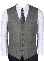 Ruth&Boaz 2Pockets 5Buttons Wool Herringbone / Tweed Business Suit Vest
