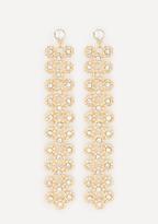 Bebe Crystal Florette Earrings