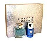 Azzaro Loris Chrome By Loris For Men. Gift Set ( Eau De Toilette Spray 1.7-Ounces + Deodorant Stick 2.7-Ounces)