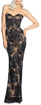Dress the Population Nicolette Strapless Lace Mermaid Gown