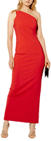 Karen Millen One Shoulder Pencil Maxi Dress, Red